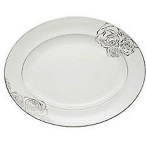 Waterford Fine China Monique Lhuillier Sunday Rose Oval Platter