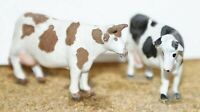 4 Cows various stances F68 UNPAINTED OO Scale Langley Models Kit 1/76 Animals