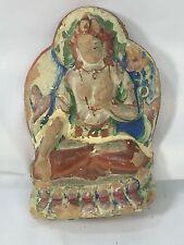 "Very Old Antique Tibetan Clay Tsa Tsa Buddha Statue Padmasambhava ? 4"""