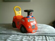 Kiddie Land  Fire Engine - Push Along, Ride Along Truck with Sounds