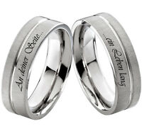 Verlobungsringe Eheringe Trauringe Hochzeitsringe mit Ringe Lasergravur Z006