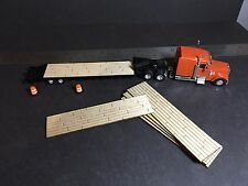 S Scale 1/64 laser engraved real balsa wood trailer deck