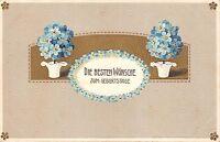 BG3918 geburtstag birthday  lilly embossed flower  germany greetings