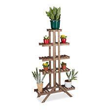 Relaxdays Etagère À Fleurs en bois Escalier pour Plantes Échelle Intérieur...