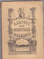 JAN 1884 HARPERS NEW MONTHLY MAGAZINE - great ads/prints