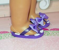 """SALE !!! Sandals For American Girl or 18"""" Dolls New Purple Clothing Accessories"""