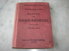 *** Manuel de Sciences Naturelles ** E. & Coupin - 1936