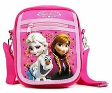 """8"""" Disney Frozen Elsa and Anna Detachable Lanyard Messenger Shoulder Bag- Pink"""