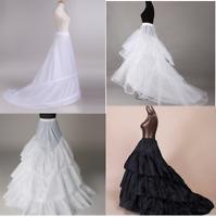 Women 3 Hoop Mermaid Petticoat Underskirt Bridal's Train Wedding dresses Slip