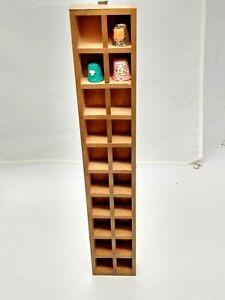 "20 lot Thimble Display Case - wall hangable 15 1/2"" x  2 3/4""x 1"""