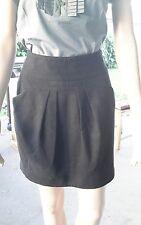 Cue Black Wool blend winter short skirt Size 10