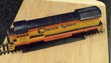 HO scale,Chessie,C&O,  GP,diesel train, locomotive, late 70's, Bachmann, runs