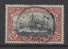 1901 German colonies EAST AFRICA  3 Rupien Yacht used PANGANI  $ 936.00