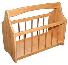 New Bamboo Magazine Rack Storage Stand Wooden Rack Newspaper Holder Handy Easy