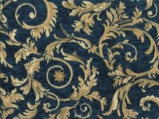 Saxon 4678 Scroll Navy 100% Polyester Fabric