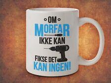 Om MORFAR ikke kan fikse det kan ingen grand-père grand-père norvège-blanc mug