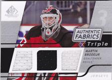 08-09 SP Game Used Martin Brodeur Triple Jersey Fabrics NJ Devils 2008