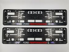 NPSL-FORDX2 - [2] FORD PERFORMANCE NUMBER PLATE SURROUND