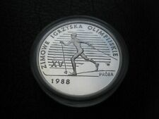 Poland 1987 Silver Proof 1000 Zlotych Coin Proba ~ 1988 XV Winter Olympic Games