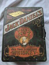 Vintage Jack Daniels Whiskey NO.7 Poker Chip Set in Hudson Scott & Sons Tin
