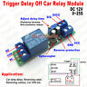 DC 12V Adjustable Timer Signal Trigger Delay Turn Off Switch Time Relay Module