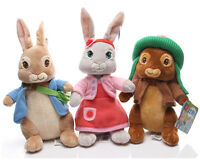 Peter Rabbit Doll Lilly Bobtail  Benjamin Bunny Soft Stuffed Plush KIDS Toy Gift