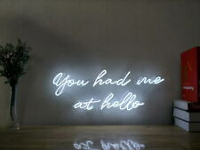 New You Had Me At Hello Neon Sign For Bedroom Wall Home Decor Art With Dimmer