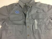 Kentucky Wildcats Vented Shirt Fishing Mens Medium Outdoors Hiking Button Down
