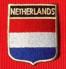 NETHERLANDS DUTCH HOLLAND NATIONAL FLAG BADGE IRON SEW ON PATCH CREST SHIELD 1
