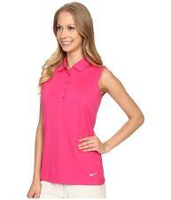 SZ SMALL RARE 🆕 Nike Women's Victory Sleeveless Golf Tennis Polo 725598-616 $60