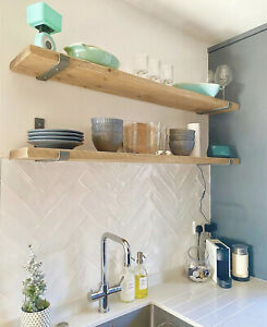 Scaffold Board Rustic Shelf | Wooden Handmade Shelves | Wall Hanging