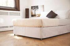 Belledorm Divan Bed Base Wrap Faux Suede Grey, Black, Linen or Chocolate