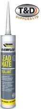 Lead Mate Flashing Mastic Mortaring Silicone Sealant roof grey Led PVC Everbuild