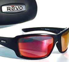 NEW* REVO BEARING Matte Black w POLARIZED Solar Orange FIRE Sunglass 4057 01 0G