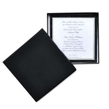 100 x Rigid Wedding Invitation Box - Black 152x152x19mm