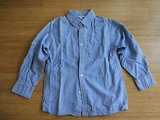 Kinder Hemd TCM blau-weiß gestreift Größe 122/128 cm schick Designer