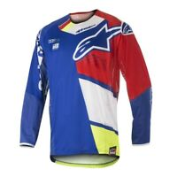 Alpinestars Techstar Factory Jersey Fluo Yellow Blue Red White New