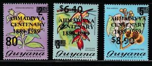 Guyana   1989   Sc # 2225-27   Orchids   Surcharged   MNH   (220)