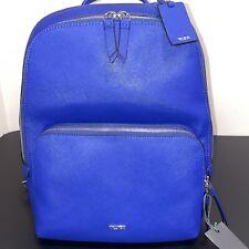 Tumor Varek Hudson backpack Cobalt Blue  Travel Backpack Leather New
