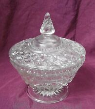 Vintage AH Wexford Glass Footed Candy Dish Compote w/ llid