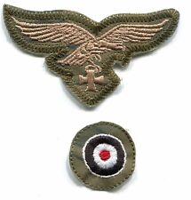 WWII German Luftwaffe Cap Set Eagle Iron Cross Tan on Tan & Water Camo Repro