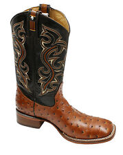 MEN'S RODEO COWBOY BOOTS  OSTRICH PRINT LEATHER WESTERN BOOTS