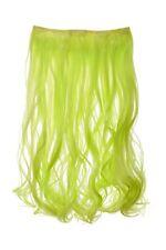 Postiche Extension large Extensions cheveux 5 Clips bouclée Vert néon YZF-3178