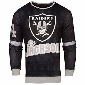 NFL Men's Oakland Raiders Bo Jackson #34 Retired Player Ugly Sweater