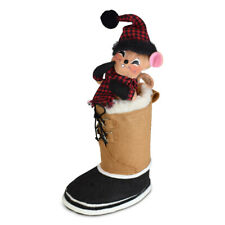 Annalee Dolls 2021 Christmas 6in Winter Woods Snow Boot Mouse Plush New with Tag