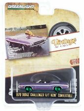 "Chase 1970 DODGE CHALLENGER HEMI ""VINTAGE AD CARS"" 1/64 GREENLIGHT 39050 B"
