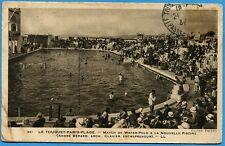 CPA: Le Touquet-Paris-Plage - Match de Water-Polo à la nouvelle piscine / 1933