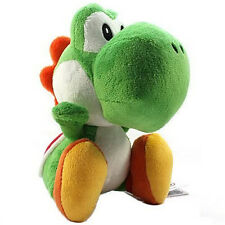 7'' Super Mario Bros Yoshi Soft Plush Toys Kid Stuffed Animal Dragon Doll xmas
