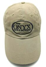 THE ONYX COLLECTION / BATHROOM PRODUCTS brown adjustable cap / hat - 100% cotton