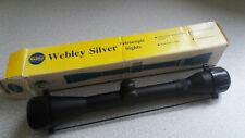 BOXED - NEW- WEBLEY SILVER TELESCOPIC GUN / RIFLE SIGHT-